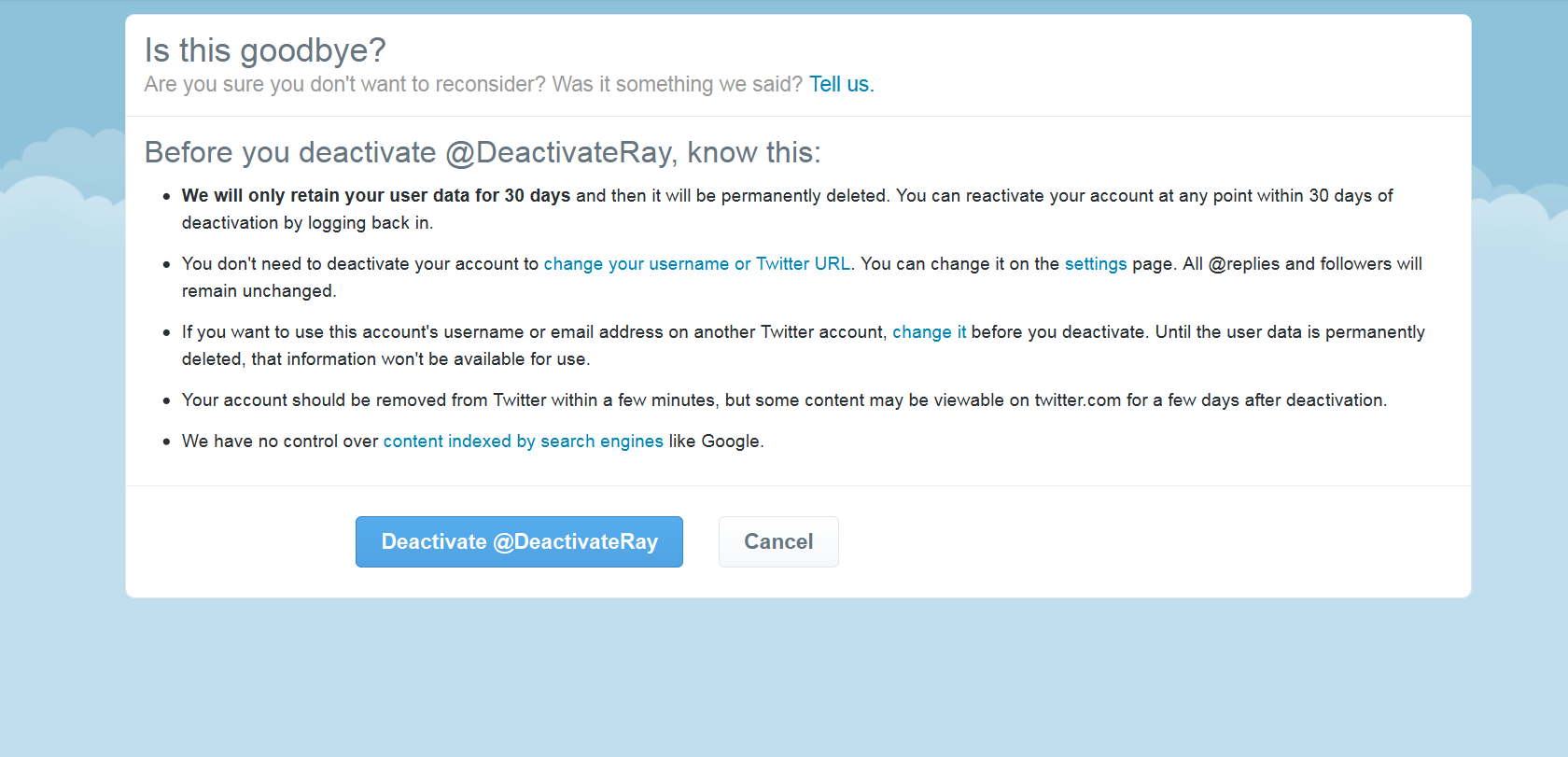 How to delete a Twitter account verify