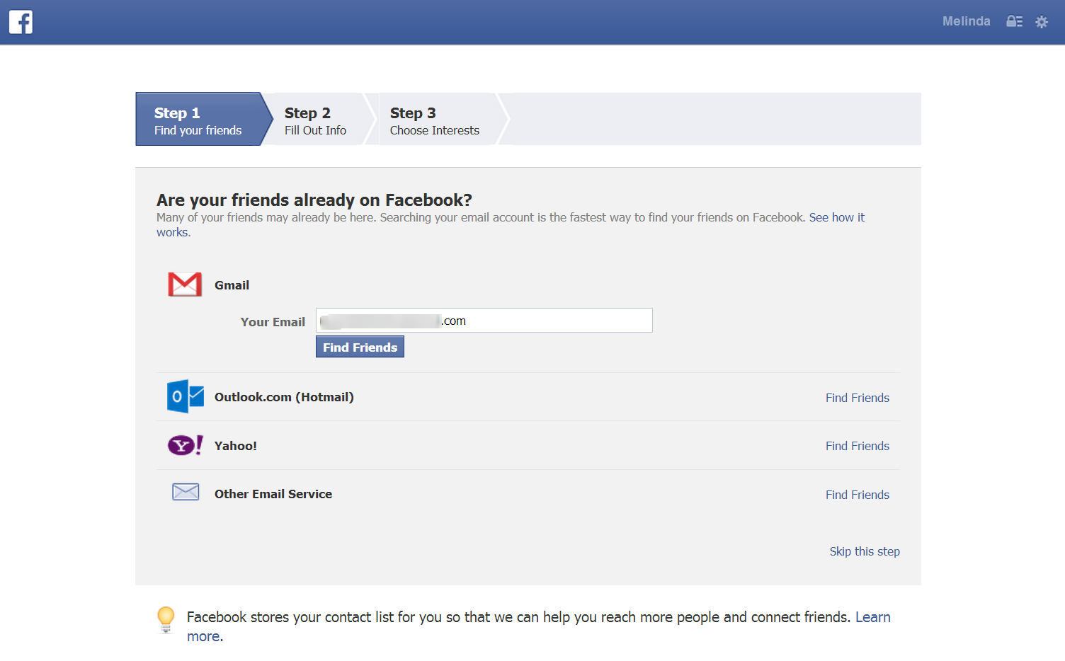 How to Create a Facebook with PC find friends