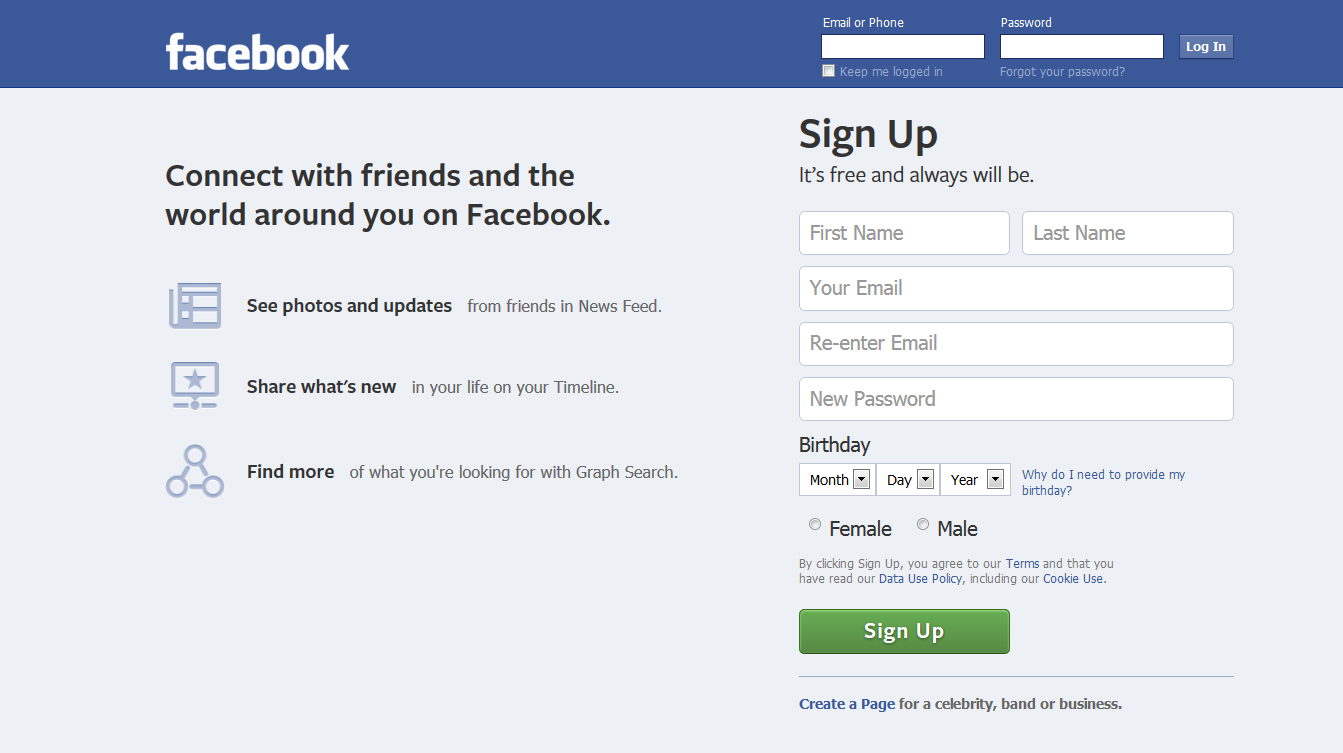 How to Create a Facebook with PC