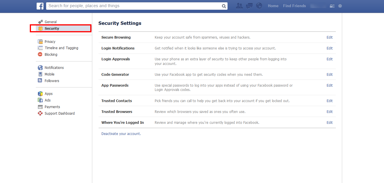 How to Delete Facebook Account click security