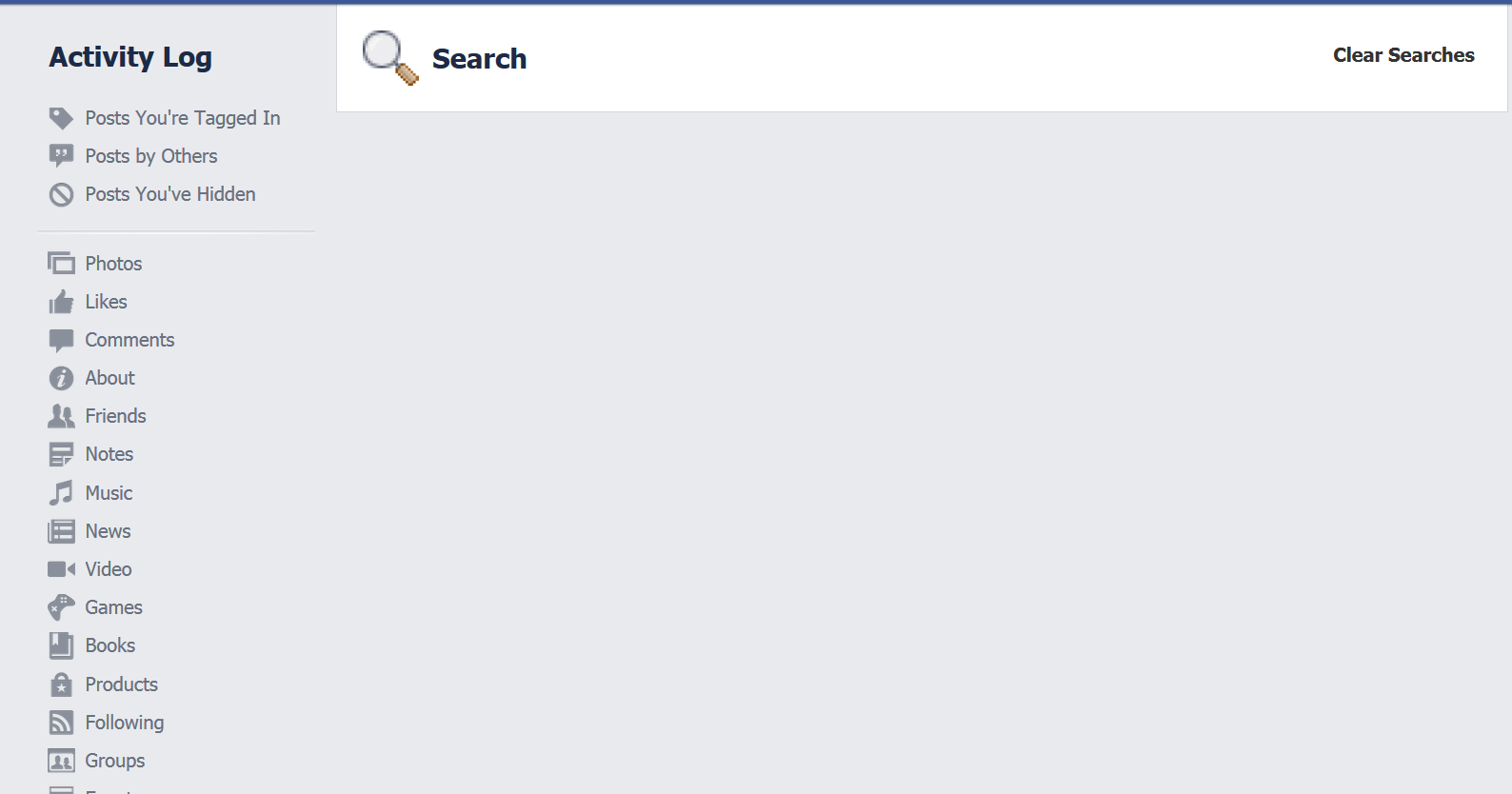How to Delete Facebook Search History clean log