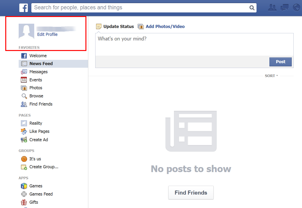 How to Delete Facebook Search History click profile